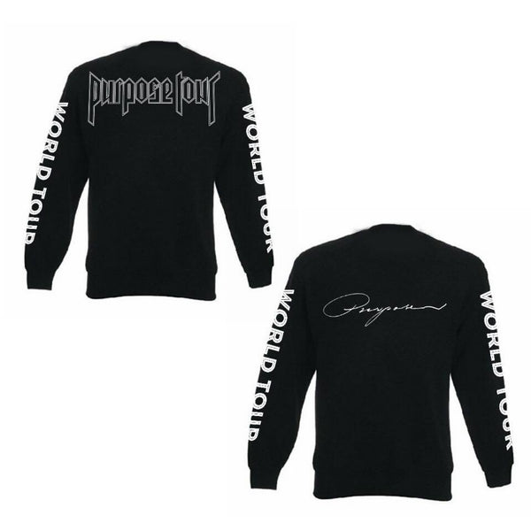 ATLBIEBUR designs Purpose World Tour Long Sleeve Black T-Shirt