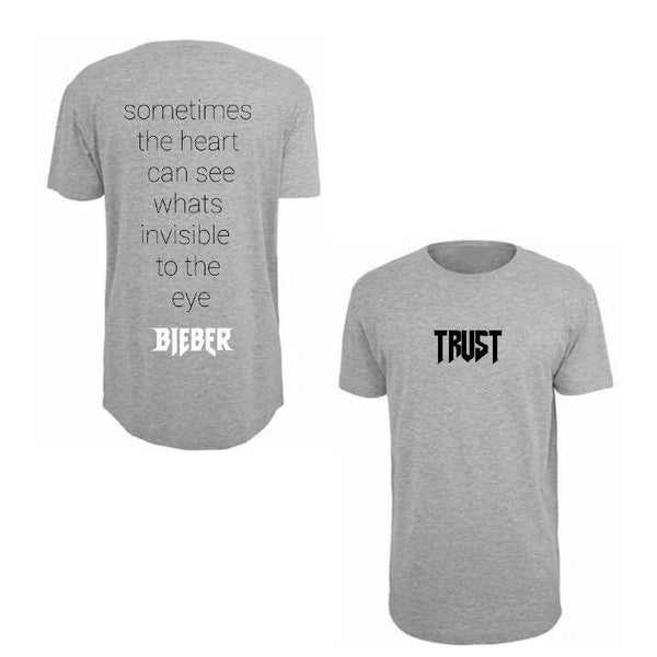 ATLBIEBUR designs Trust lyrics Grey T-Shirt