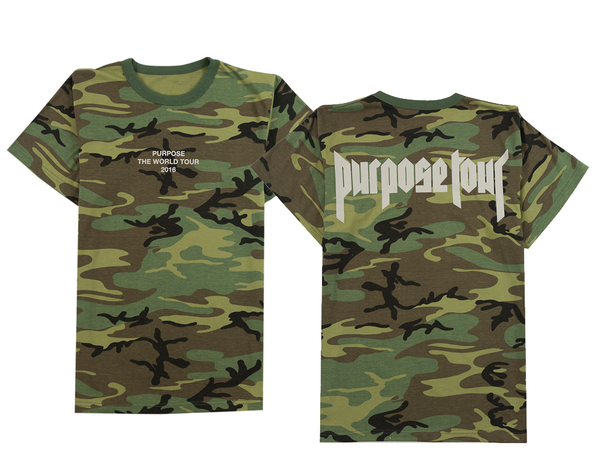 Camouflage Purpose The World Tour Green Camo t-shirt