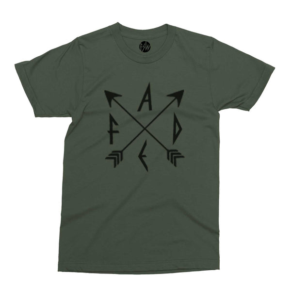 FADE Arrows Graphic Olive Green T-Shirt
