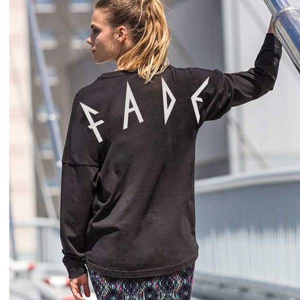 F A D E Drop shoulder long sleeve tee