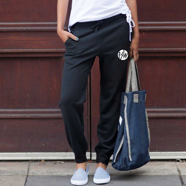 FSW Circle logo Black slim fit joggers  -UNISEX