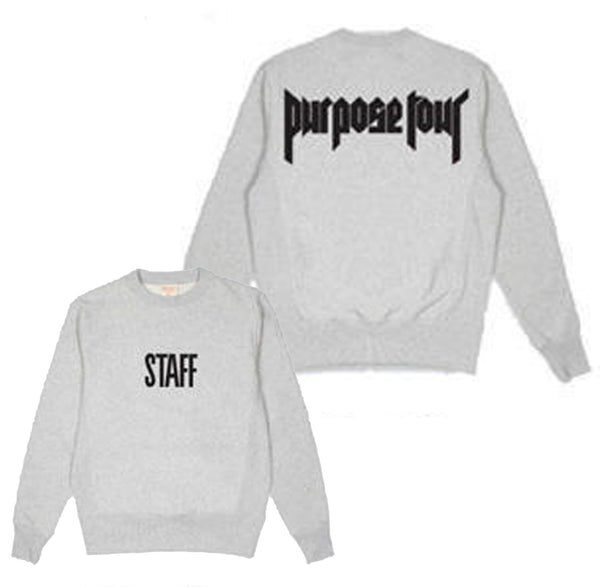STAFF Purpose Tour - GREY SWEATSHIRT