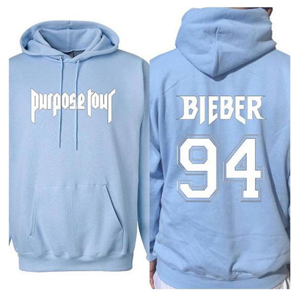 1.3.12.56 designs Purpose Tour Bieber 94 baby blue Hoodie
