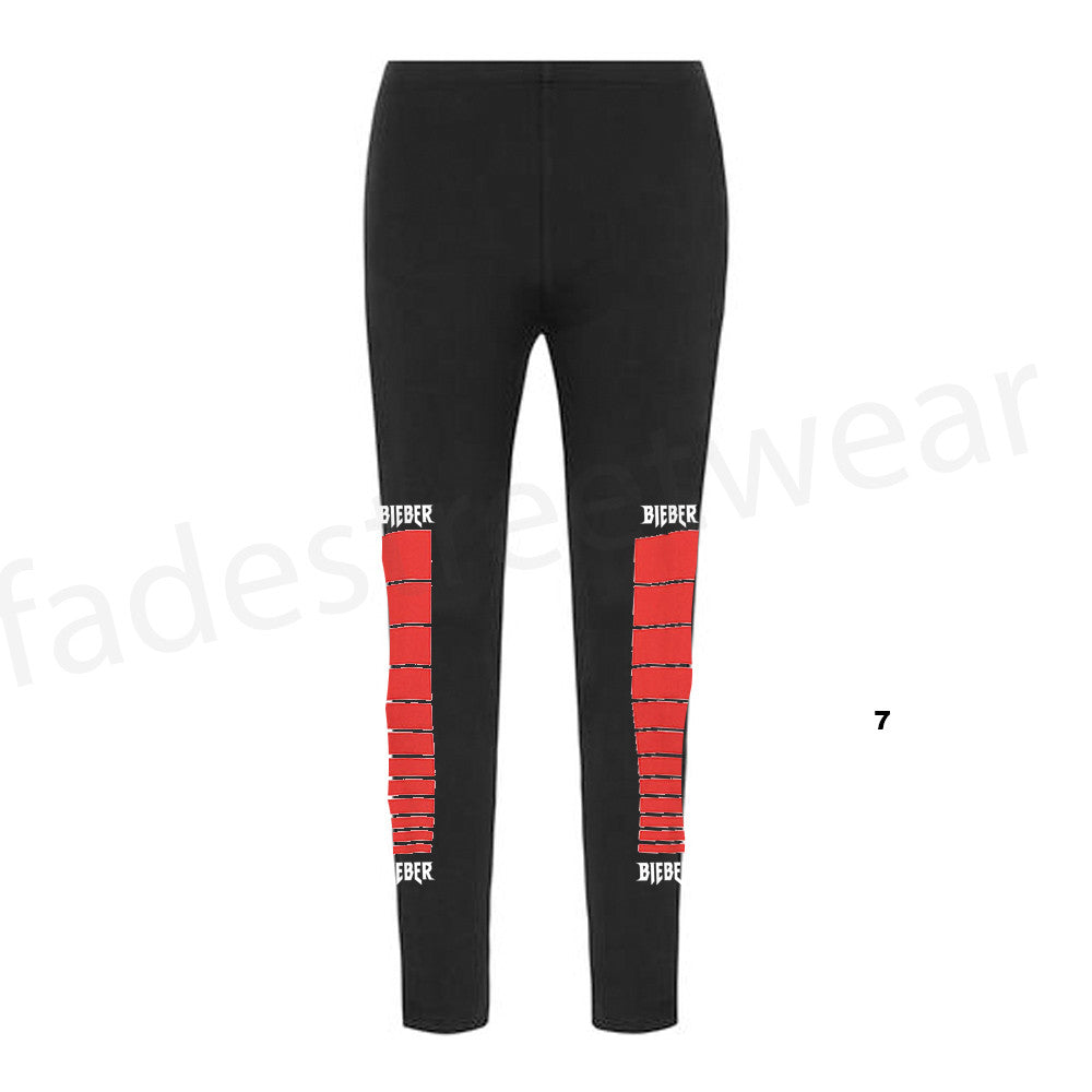 STADIUMS Tour Moto - Ladies Black Leggings Yoga Pants
