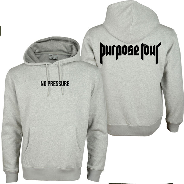 No Pressure Purpose Tour Grey Hoodie