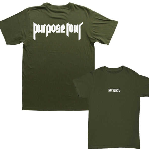 No Sense Military Green Short Sleeve t-shirt