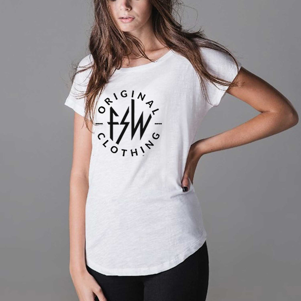 Original FSW Clothing Ladies White Slub T-Shirt