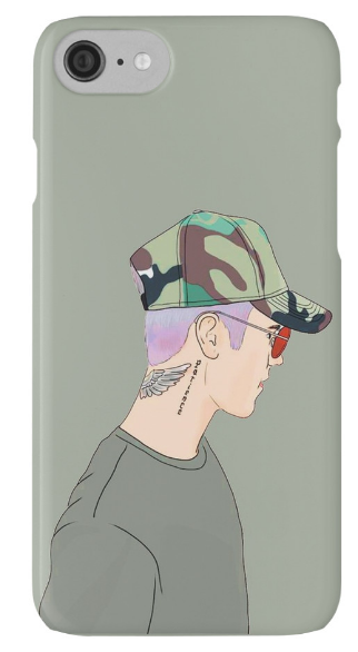 Outlyning designs - Bieber Drawing Phone Case