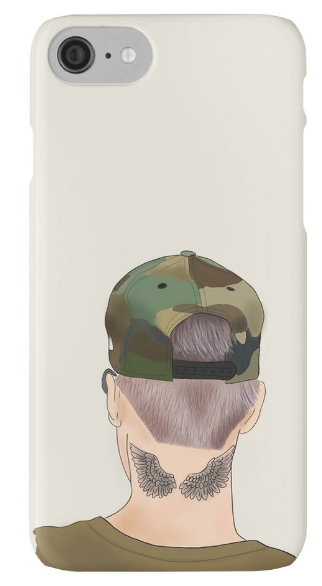 Outlyning designs - Bieber Drawing Back Cap Phone Case