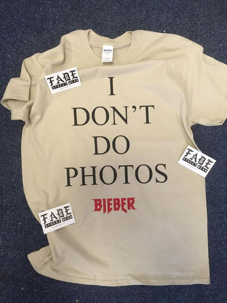 I Don't Do Photos - SORRY Sand Short Sleeve t-shirt