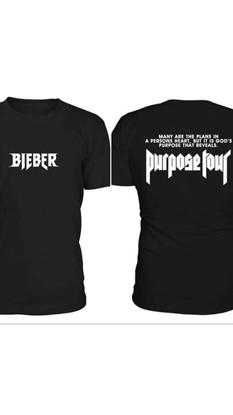 @FACTJDB Design - It is God's Purpose that Reveals - BIEBER black t-shirt