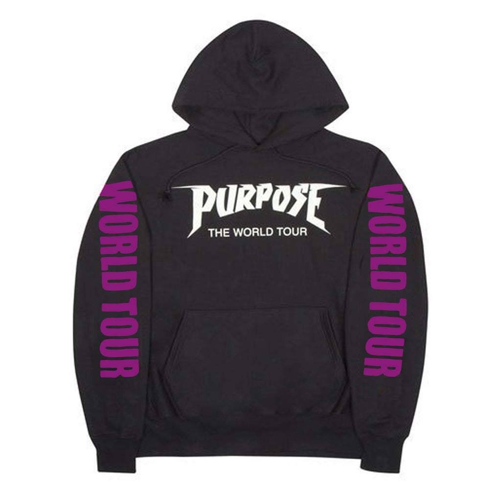 Purpose PARIS Purple The World Tour -Black Hoodie