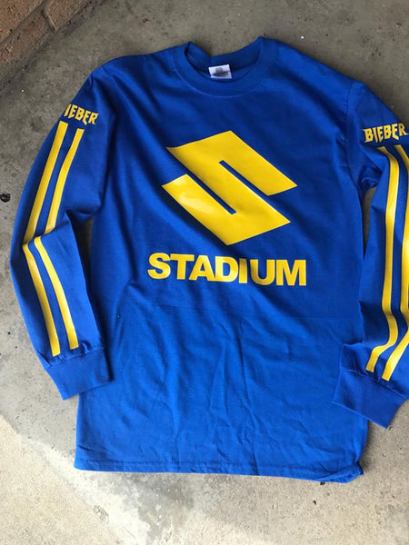 STADIUM TOUR NEW Blue/Yellow Long Sleeve shirt