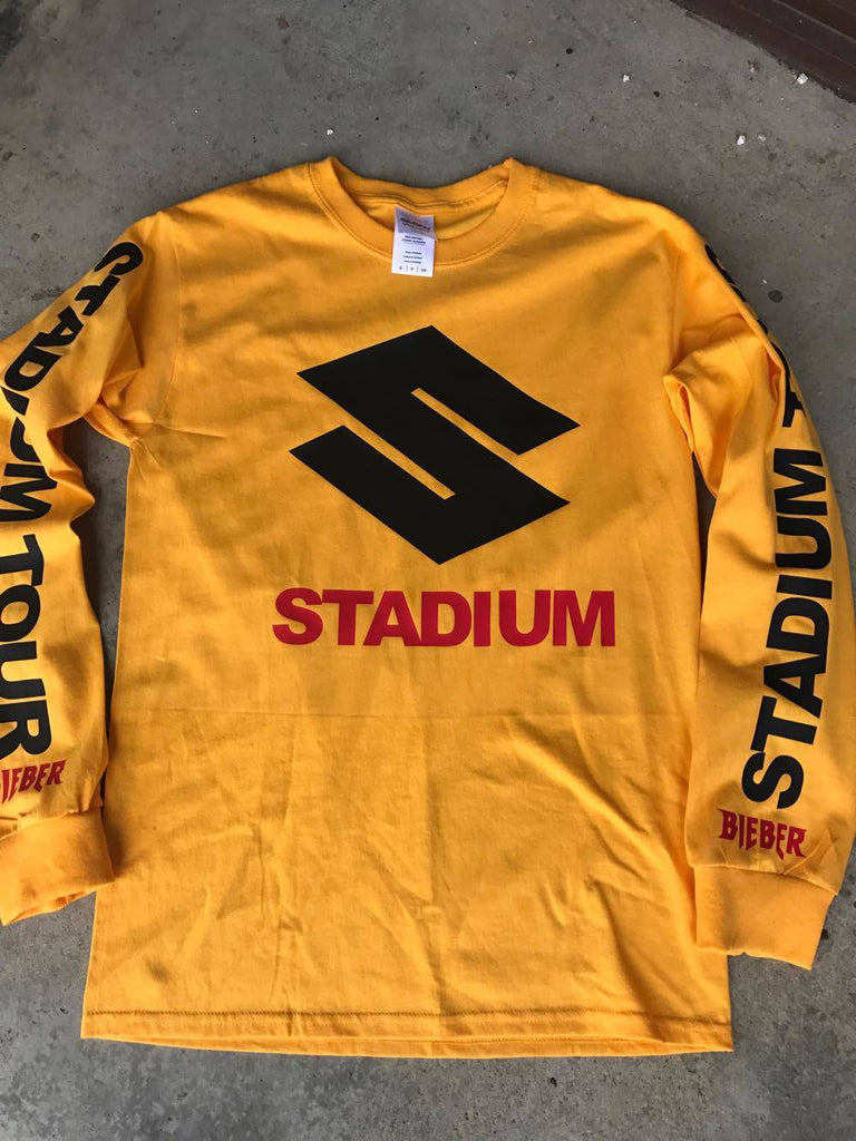 STADIUM TOUR NEW Gold Yellow Long Sleeve shirt