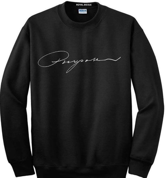 Royal.Bizzle Designs Purpose Black Sweatshirt