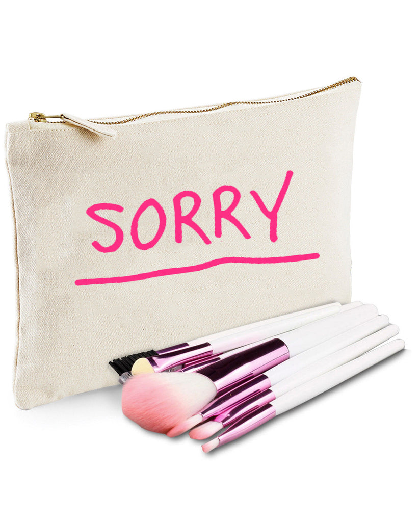 Sorry - Natural Make Up/Cosmetic Bag.