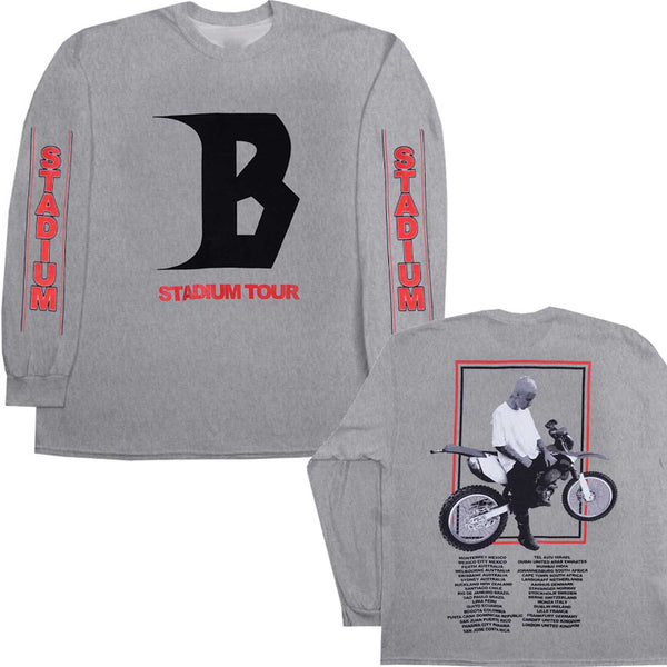STADIUM Tour Dirtbike graphic  - GREY SWEATSHIRT