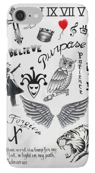 Outlyning designs - Bieber Tattoos 2016 Phone Case