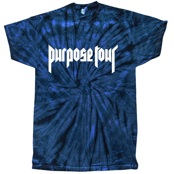 Purpose Tour Blue Tie-Dye Short Sleeve t-shirt