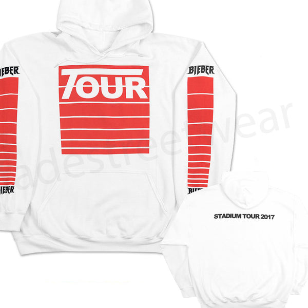 STADIUM Tour Moto - White Hoodie NEW