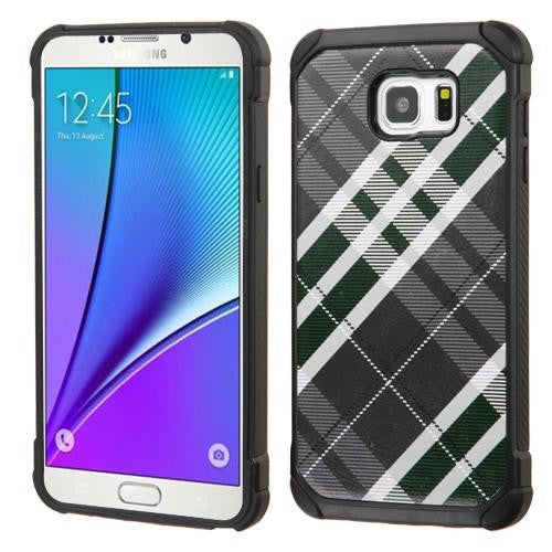 Galaxy Note 5 Astronoot Phone Case in Forest Green/Gray/Black Plaid - JandJCases