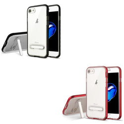 iPhone 7/8 Clear Hybrid Protector Cover (with Magnetic Metal Stand) - JAndJCases