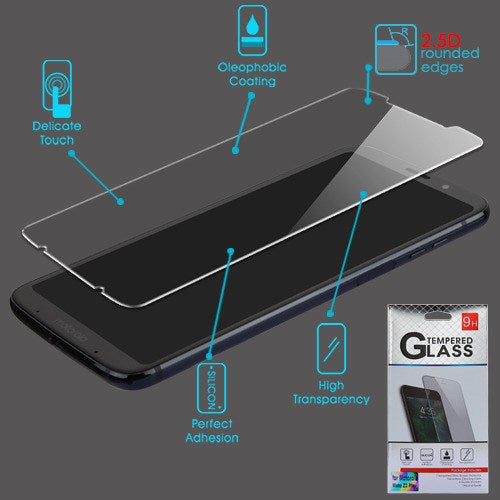 Moto Z3/Z3 Play, Tempered Glass Screen Protector (2.5D)