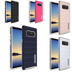 Galaxy Note 8, MYBAT Dots Textured/Fusion Phone Case In 5 Colors - JandJCases