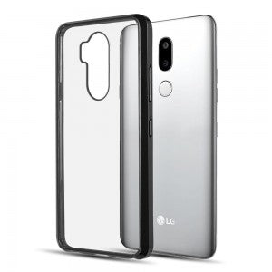 LG G7 ThinQ Luxmo Fusion Candy TPU w/ Clear Acrylic Back - Black