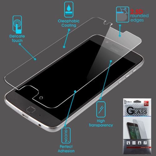 Moto G5, Tempered Glass Screen Protector