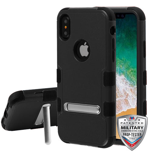 iPhone X, TUFF Hybrid Case (with Magnetic Metal Stand) - JandJCases