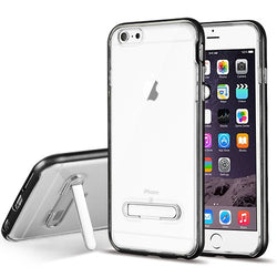 iPhone 6, Clear Hybrid Protector Cover (with Magnetic Metal Stand) - JAndJCases