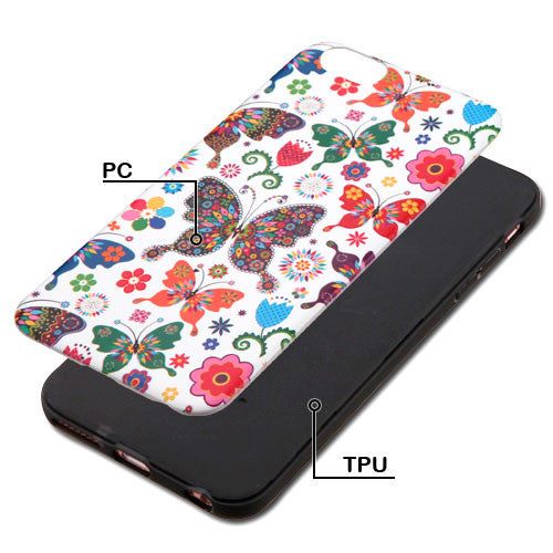 iPhone 6 Plus ASMYNA Butterfly Wonderland/Black Armor Phone Case - JandJCases