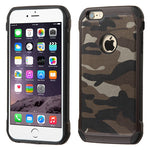 iPhone 6 Plus Asmyna Camouflage Brown Backing/Black Astronoot Phone Case - JandJCases