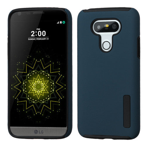ASMYNA Ink Blue/Black Hybrid Protector Cover for LG G5 - JandJCases