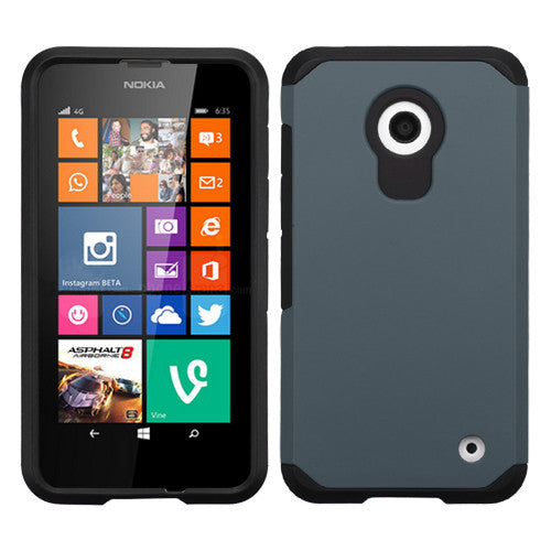 Ink Blue/Black Astronoot Phone Protector Cover for Nokia Lumia (630) (635) - JandJCases