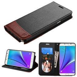 Samsung Galaxy Note 5 Black/Brown MyJacket wallet (with card slot)