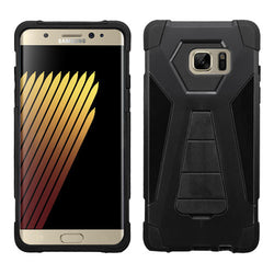 Samsung Galaxy Note 7 Black Inverse Advanced Armor Stand Protector Cover - JandJCases