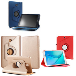 Galaxy Tab A 8.0, (T350), 360 Rotating Smart Folio Leather Magnetic Case