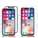 iPhone X, Tempered Glass Screen Protector (2.5D) in 2 Colors - JandJCases