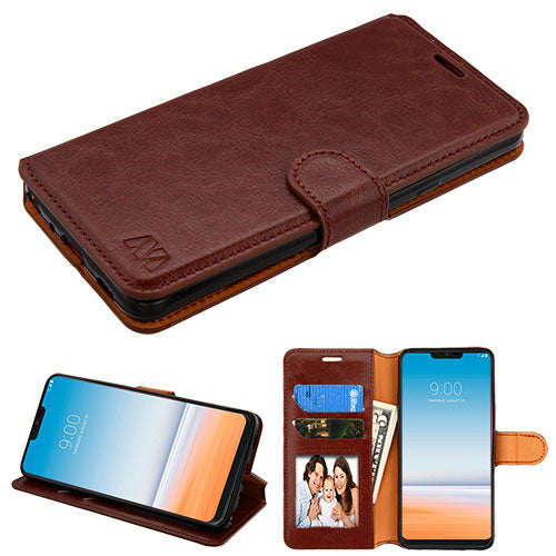LG G7 Thin Q, Brown MyJacket Wallet(with Tray)(562)