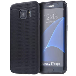 Galaxy S7 Edge Luxmo Dotted TPU Case - Black - JandJCases