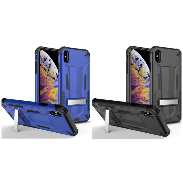 iPhone XS Max Hybrid Transformer Phone Case w/Kickstand In ZV Blister Packaging