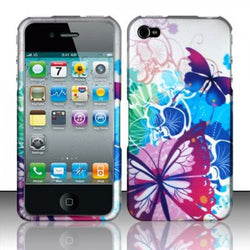 iPhone 4/4S Rubberized Design Phone Case - Spring Butterflies - JandJCases