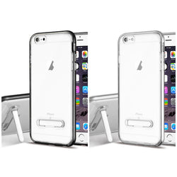 iPhone 6 Plus, Clear Hybrid Protector Cover (with Magnetic Metal Stand) - JAndJCases