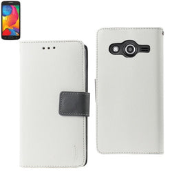 Galaxy Avant Wallet Case with Card Slots White with Gray Interior - JAndJCases