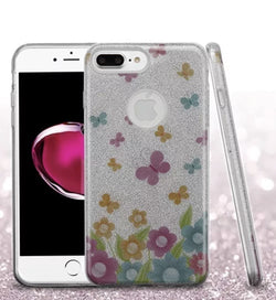 iPhone 7 Plus ASMYNA Colorful Butterflies Full Glitter Hybrid Case