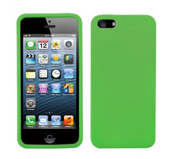 Apple iPhone 5 Solid Skin Cover - Lime Green - JandJCases