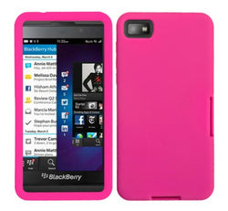 Blackberry Z10 Hot Pink Solid Skin Cover - JandJCases